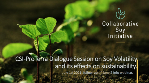 Dialogue session on soy volatility and the sustainability effects of changing price and premiums.